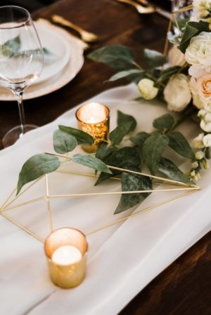 Gold glass votive - Decor Rental - Mlle Artsy