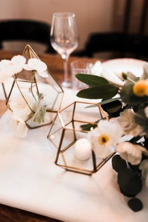 Gold terrarium - Decor Rental - Mlle Artsy