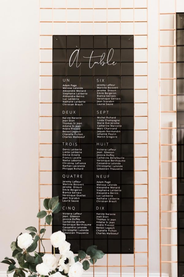 acrylic and gridwall signs - Decor Rental - Mlle Artsy