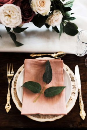 Blush linen napkin - Decor Rental - Mlle Artsy