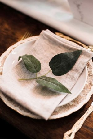 Natural linen napkin - Decor Rental - Mlle Artsy
