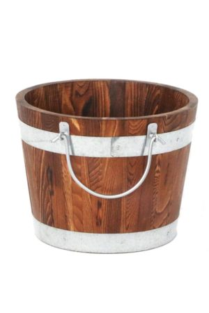 wood bucket - Decor Rental - Mlle Artsy