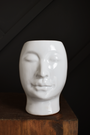 Beau lady face pot planter vase mlle artsy