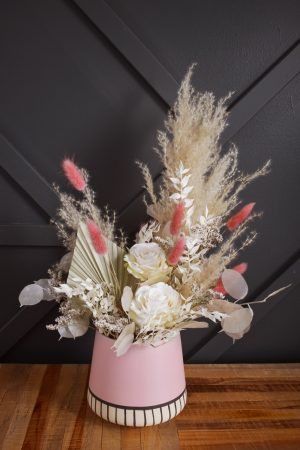 Dusty rose floral centerpiece
