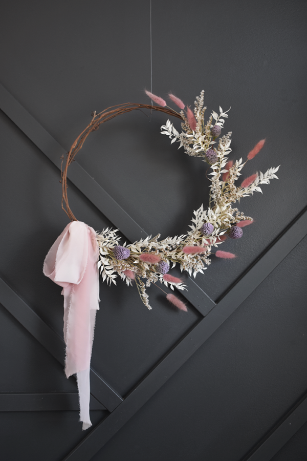 Dusty rose floral wreath
